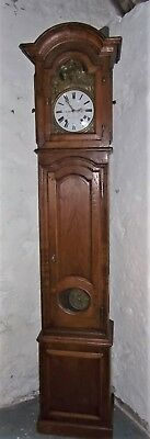 antique longcase clock,oak french comtoise clock, grandfather clock