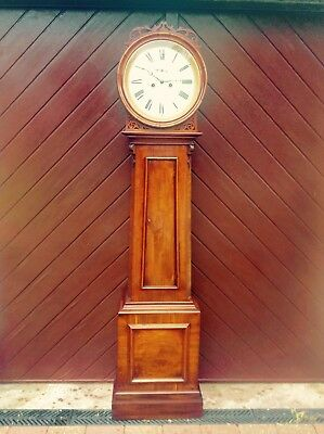 19th Century Beautiful Socttish Drumhead Longcase Clock