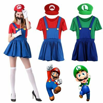 Kleid MARIO BroTräger Party Fasching SUPER Luigi DAMEN Rock rdQCexoBW
