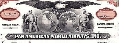 Pan American World Airways Aktie USA Fluglinie Luftfahrt Transport Pan Am 1972