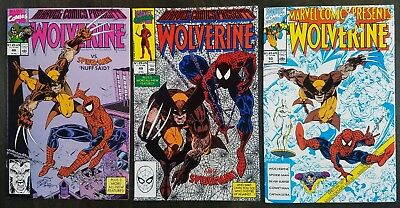 Marvel Comics Presents Wolverine #48 #49 #50 1990 Spider-Man Lot Set Erik Larsen