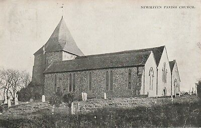 """""""Hundred Year old photo postcard from collection"""" Newhaven Parish Church"""