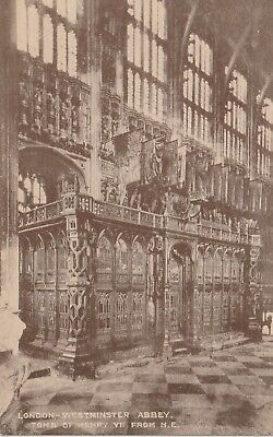 """""""Hundred Year old photo postcard from collection"""" London - Westminster Abbey"""