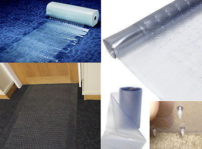 Clear Carpet Floor Protector Runner Office Home Hallway Plastic Vinyl 30M Roll