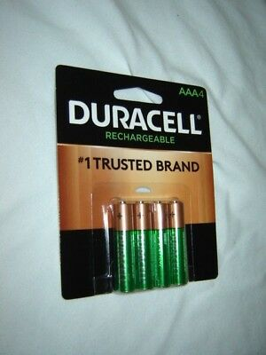 4 Duracell 184287 AAA 850 mAh Rechargeable Batteries Never Refurbished, Just New