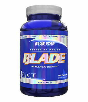 Blue Star Nutraceuticals BLADE Thermogenic Fat Burner, 120 Clear Capsules