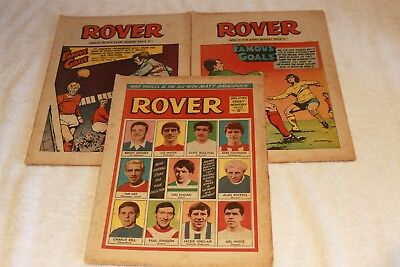 3  Extra  Rover  Comics   1970.....all  Strong  Spines