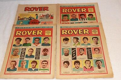 4  Rover  Comics   1970.....strong  Spines