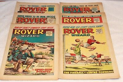 6  Rover  + Wizard  Comics...1966...strong  Spines...nice  +  Clean....lot  2