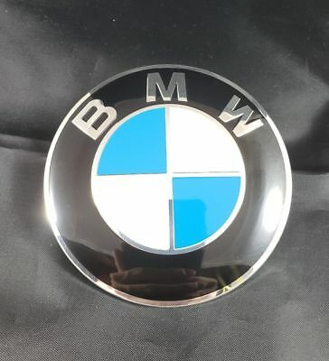 new BMW Emblem 82mm Genuine Hood/Trunk Logo Replacement- blue white (2 Pin)