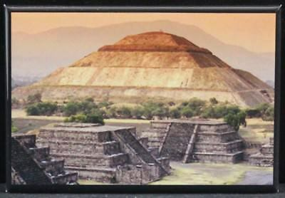 "Pyramid of the Sun Teotihuacan Mexico City 2"" X 3"" Fridge / Locker Magnet."