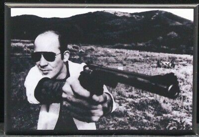 "Hunter S. Thompson B & W Photo 2"" X 3"" Fridge / Locker Magnet. Gonzo!"