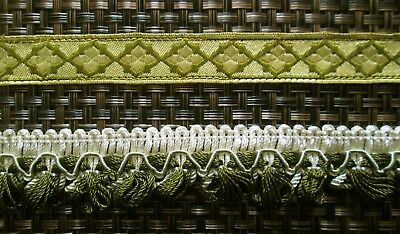 2 Lengths Of Antique / Vintage French Trim Braid Sewing Craft
