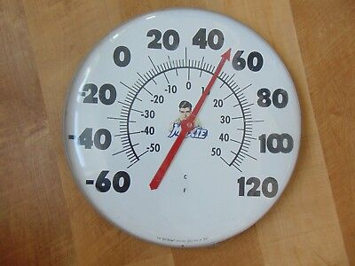 "RARE Vintage Original Jumbo 18"" MOXIE THERMOMETER Maine soda pop true temp dial"