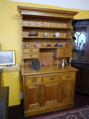A Victorian Pine Dresser / Bookcase With Attractive Pillared Top