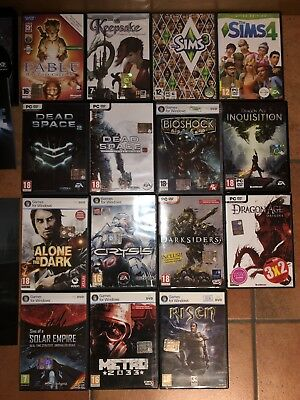 Lotto 16 Giochi Pc Fable Alan Wake Crysis Bioshock The Sims 4 Dead Space