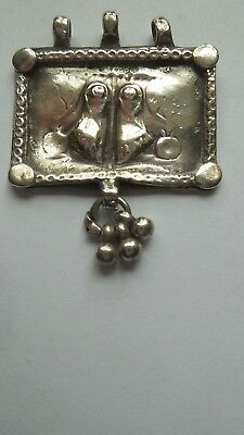 Silver pendant - vintage - Indian - Craft - Traditional - Rajasthan