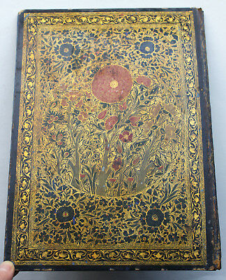 HAND-PAINTED Vintage Antique WRITING FOLDER / PORTFOLIO poss. Chinese 19thC