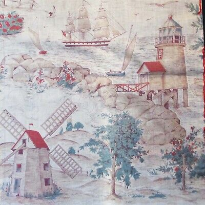 Early Muslin Country Print Wall Hanging