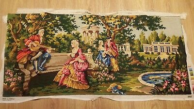 Vintage French Tapestry Classical Romantic 112cm  x 50cm