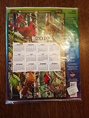 2019 Design Works Jeweled Cardinals Kit 4294 Calendar