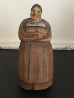 Vintage Anri?/European Carved Wood Figure Of A Woman
