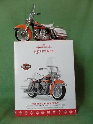 Hallmark 1968 FLH Electra Glide Harley Motorcycle Ornament - NEW