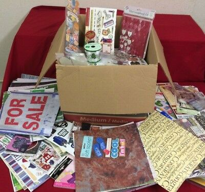 Huge Wholesale Lot of Scrapbooking Papers, Kits, Stickers, Supplies