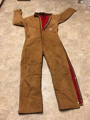 CARHARTT QUILT INSULATED COVERALL  JUMPSUIT , Medium , Some Spots But Washed,