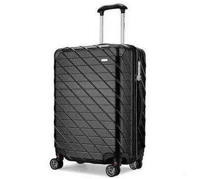 D925 Black Lock Universal Wheel ABS+PC Travel Suitcase Luggage 22 Inches W