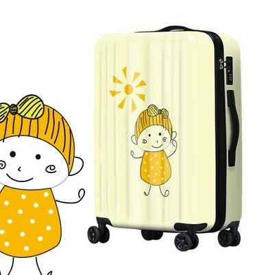 D779 Lock Universal Wheel Girl Travel Suitcase Cabin Luggage 20 Inches W