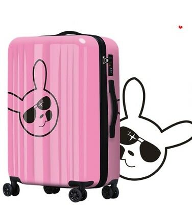 D265 Fashion Rabbit Universal Wheel ABS+PC Travel Suitcase Luggage 20 Inches W