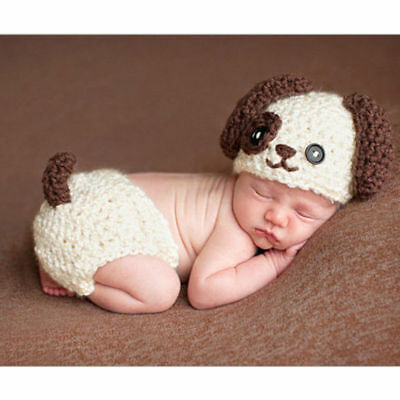 Knit Costume Photo Photography Prop Hats Outfits Newborn Baby Girl Boy Crochet