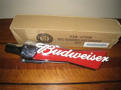 """Budweiser Bow Tie Large Beer Tap Handle 12"""" New In Box Tapmarker"""
