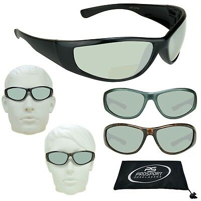 Sun Reading Bifocal Sunglasses 1. 1.5, 2.0, 2.5, 3.0 Full Wrap Frame sports Mens