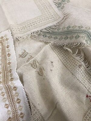 Antique Textile Embroidery  Long  5x Edwardian / Victorian.