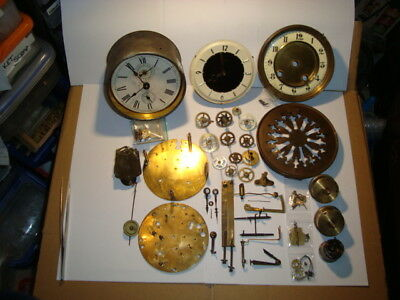 Job Lot Mixed Clocks For Repair or Useful Spares For Clockmakers STEAMPUNK