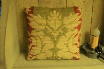 Antique 1830 Woven Coverlet Pillow ~ Lancaster County Pa ~ Gift Or Keepsake