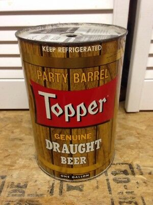 Topper Draught Gallon Beer Can Rochester,ny