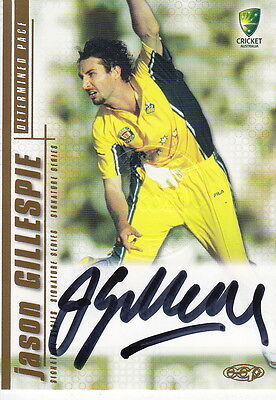 2003/04 Cricket - Jason Gillespie Autograph Card #SS04 (Ikon Collectables)
