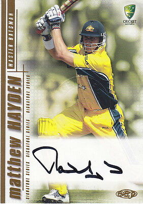 2003/04 Cricket - Matthew Hayden Autograph Card #SS02 (Ikon Collectables)