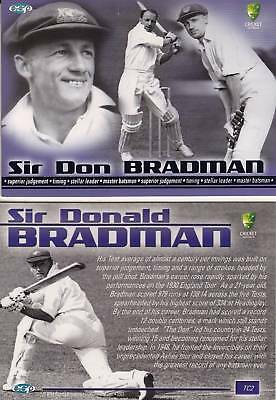 CRICKET - 2003/04 Cricket Australia ~ Sir Donald Bradman TC2 Tribute Card