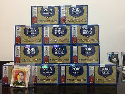 Panini World Cup Russia 12 Boxes 1200 Packs Edition 682 Stickers