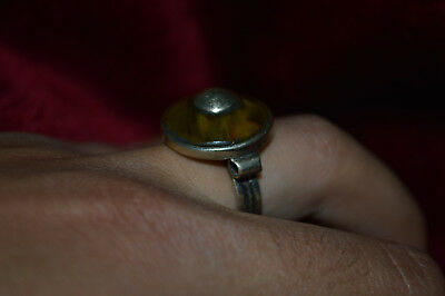 LOW OUTBID !! Rare Ancient ROMAN SLVER RING 9-10 AD century ARTIFACT Magnificent