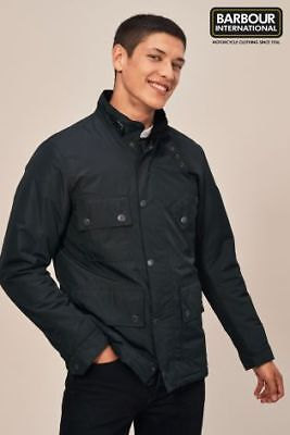 100% Genuine Barbour Mens International Tyne Waterproof Navy Jacket Coat £200