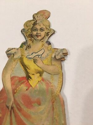 Antique Trade Card Lion Coffee Cinderella Paper Doll