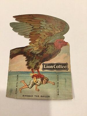 Antique Trade Card Sinbad The Sailor Lion Coffee
