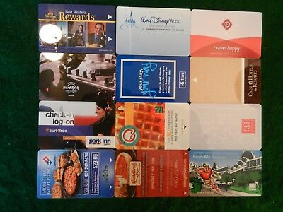 LOT of TWELVE (12) ALL DIFFERENT *HOTEL ROOM KEY CARDS*