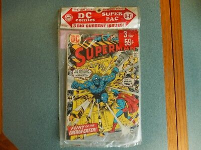 D C Comic Super Pac Nov 1974 Superman, Mister Miracle, Korak Unopened B-11