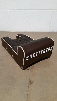 Lambretta 60s style traditional Snetterton seat chocolate brown